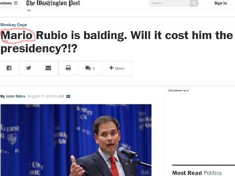 BaldGate: WaPo Trolls Someone Named 'Mario' Rubio