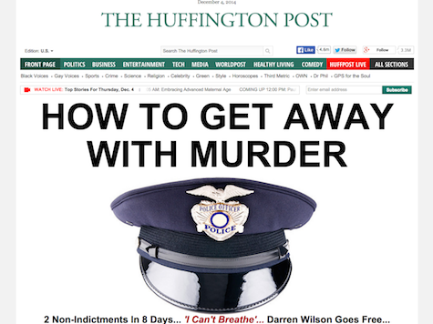Huffington Post: Cops 'Get Away With Murder'