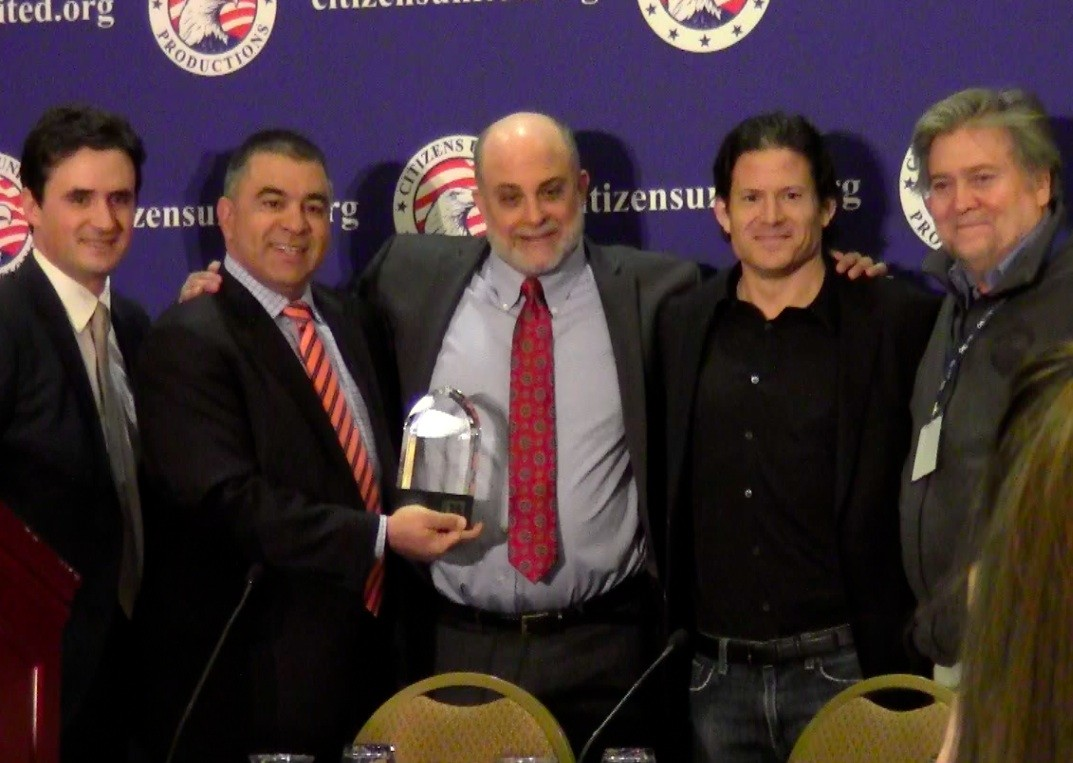 Mark Levin Accepts Andrew Breitbart First Amendment Award from Citizens United at CPAC