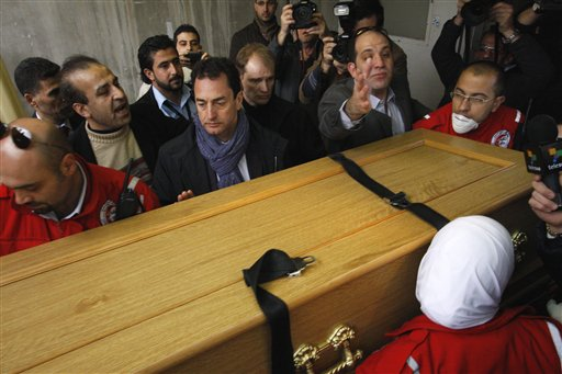 Syria hands over bodies of 2 foreign journalists