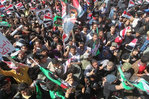Sadr loyalists protest spotty power, dirty water on anniversary of Iraq invasion