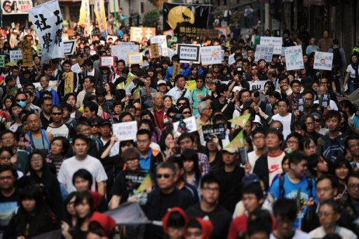 Thousands March In Hong Kong Against Chinese Interference