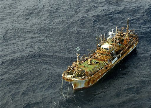 Coast Guard fires on Japanese ghost ship