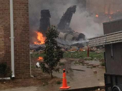 Navy jet crashes into Virginia apartment block