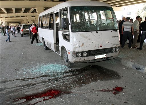 Suicide bombing in Syrian capital kills 10