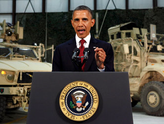 Obama Campaigns in Afghanistan