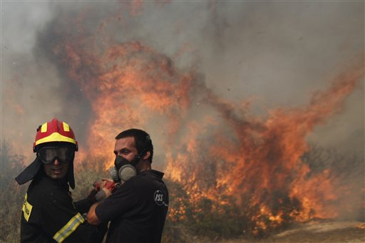 Greece in Flames on Election Eve