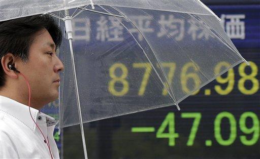 Asia Stocks Fall Amid US Jobs, Housing Gloom