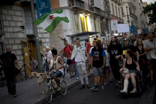 Spanish Anti-Austerity Protesters Clash with Police