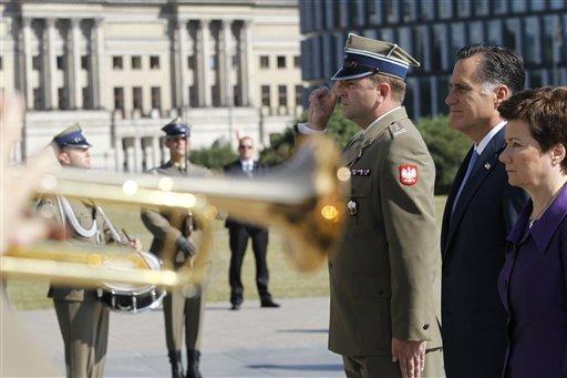 Romney Praises Polish Spirit, Creativity in Warsaw