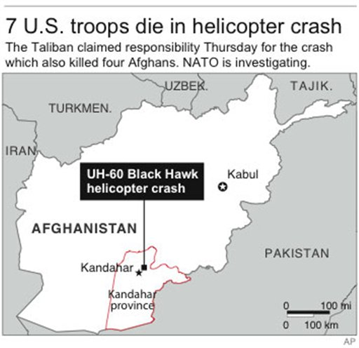 Black Hawk Crash Kills 7 Americans, 4 Afghans