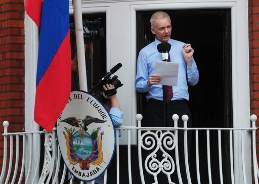 Assange expects to stay in embassy for up to a year