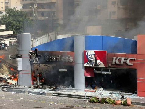 Islamist Rioters Burn Down Lebanon Hardees, KFC
