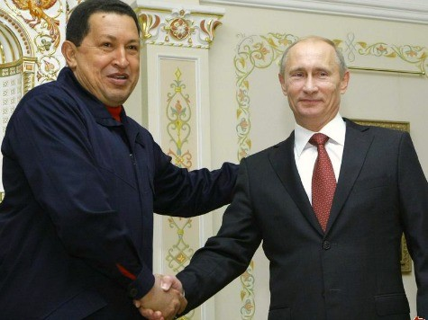 Putin Gives Chavez a Puppy