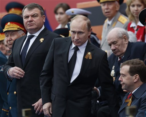 Putin Fires Defense Minister in Wake of Scandal