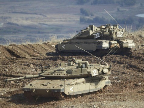 Israeli Tanks Score 'Direct Hits' on Syrian Targets