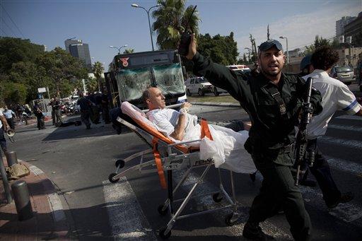 Bomb Blast Hits Bus in Tel Aviv