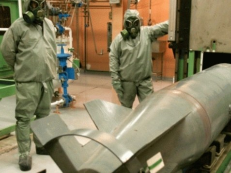 Syria Mixing Chemicals for Sarin Gas