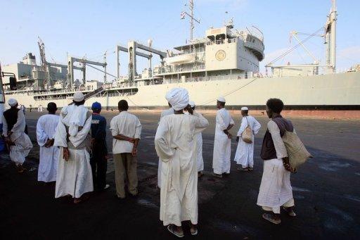 Iran Warships Dock in Sudan: Witness