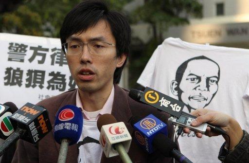 Hong Kong Activist May Face Jail over Anti-Hu Demo