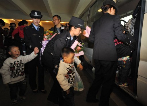 China Rescues 89 Children from Trafficking Ring
