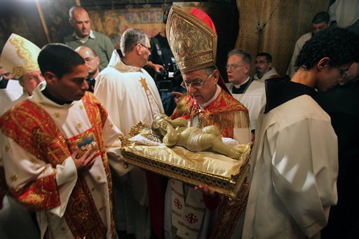 Worshippers Rejoice in Jesus' Bethlehem Birthplace