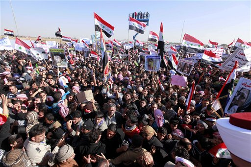 Iraqi Sunnis Demonstrate Against Shia Government