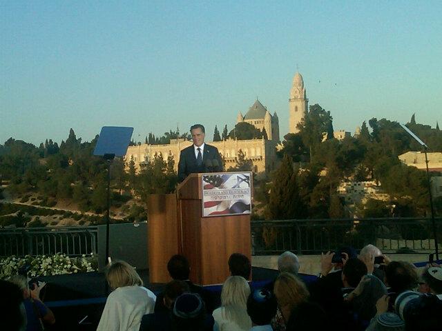 Romney: Jerusalem Capital of Israel