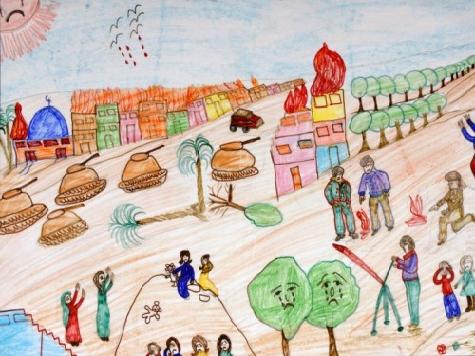 Fake: Palestinian Childrens' Art for Gaza