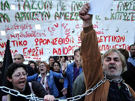 Near-bankrupt Greece Says Cash Reserves Drying Up