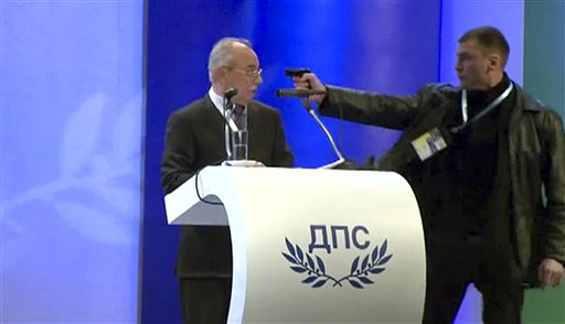 Gas Pistol Pointed at Bulgaria Party Leader