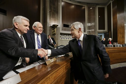 Hagel Vote Scheduled Tuesday; McCain Opposes Walkout UPDATE: Inhofe Hold