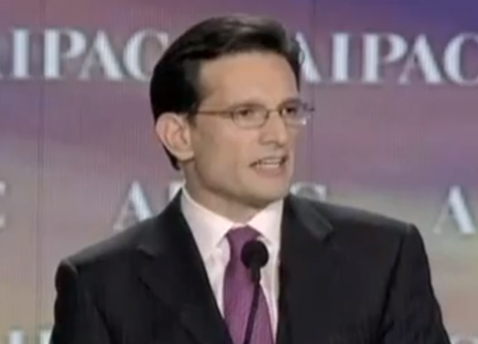 Eric Cantor Slams Obama at AIPAC: 'America Must Lead from the Front'