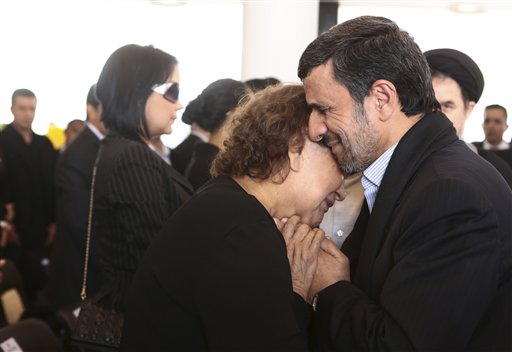 Ahmadinejad Under Fire for Hugging Chavez's Mother