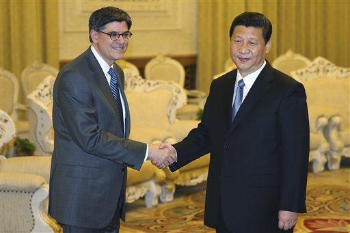 China's Leader Xi Meets US Treasury Secretary
