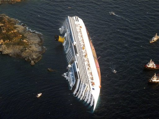 Judge Fines Costa $1.3M for Concordia Wreck