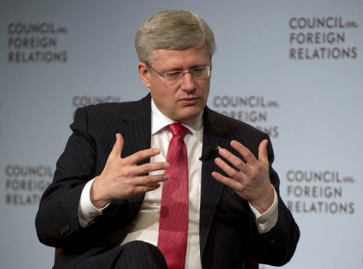 Canada's Harper Pitches Keystone Oil Line in NY