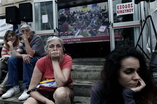 General Strike in Greece over State TV Closure