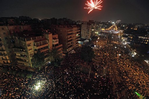 Egyptian General Asks for Mass Demonstrations