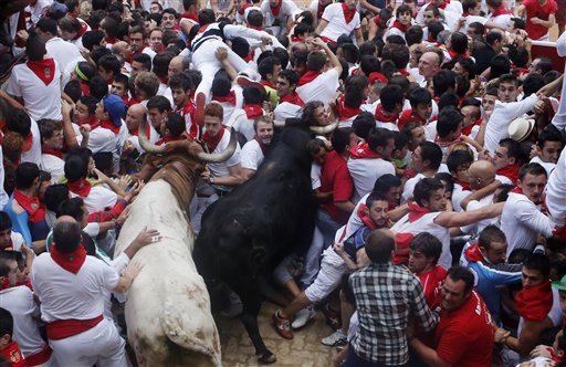 Woman Gored During Final Bull Run in Spain