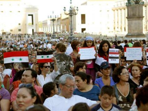 Vatican: 100,000 Attend Syria Peace Vigil