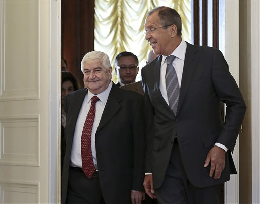 Russia to Push Syria to Surrender Chemical Weapons