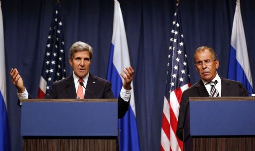 Kerry, Lavrov Talk of 'Strong' UN Syria Resolution