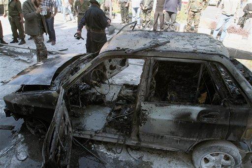 Mortar Shells Hit Near Inspectors' Hotel in Syria