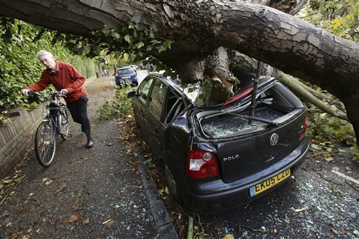 Hurricane-force Gusts Batter Britain, France