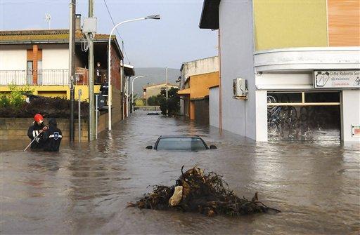 'Apocalyptic' Storm Floods Sardinia, 16 Dead