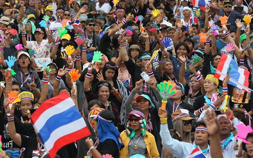 Thai Anti-government Protesters Stage Major Rally