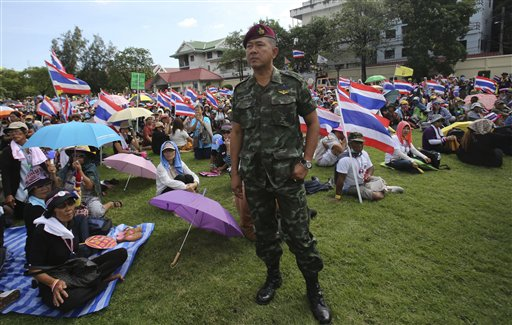 Thai Protesters Storm Army Headquarters