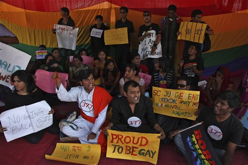 Indian Gay Activists Protest Top Court's Ruling