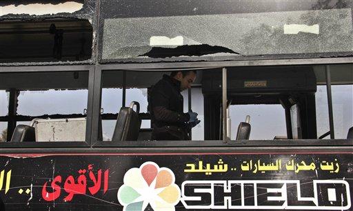 Bomb Blast Hits Bus in Egypt's Capital, Wounding 5